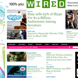 WIRED.com is letting the people create their own homepage. Fun little feature.