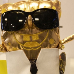 This is how Sponge Bob looks like with a Karl Lagerfeld make-over.