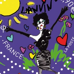 French brand Lanvin continues to celebrate their 120th anniversary and will be releasing official stamps in 2010 for the French national post - La Poste.