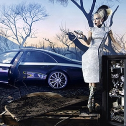 Superstar photographer David LaChapelle worked on the new Maybach campaign.