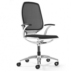 Sexy sleek new swivel office chair, the AL3, designed by Thierry Aubert for Girsberger.