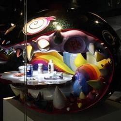 Takashi Murakami, Pharrell Williams and Jacob & Co presented their collaborative sculpture today at Art Basel 2009.