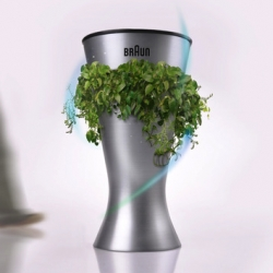 A trash can can also double as a plant - with the trash as fertilizer - in this eco-brilliant concept for Braun by industrial designer Julien Bergignat.