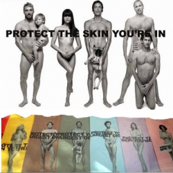 The Naked Truth about the Marc Jacobs skin cancer awareness campaign and t-shirts. Which celebs really posed in the buff, who shot the pictures, who actually benefits and where you can buy the shirts.