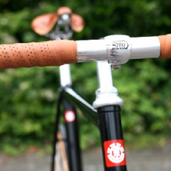 Beautiful bike by Element and Krabo with wooden wheels.