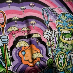 Chupa Chups turned 50 ~ and as well as the events put on ~ this mural is so awesome! Also made by the aussie group Taboo