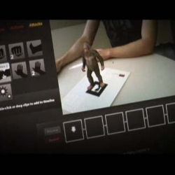 Augmented Reality strikes again. Use your webcam to create editable movies of a Sasquatch on your desk.