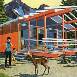 Awesome look at Mid Century Modern Home Plans over at Grain Edit