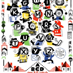 "Gorgeous print by Gwénola ""ABCD métiers"" ~ showing the alphabet of possible professions!"