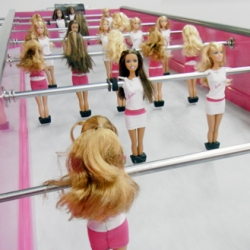 Barbie Foosball? Wow? 'barbiefoot' by french design chloe ruchon - designboom has lots of pics!