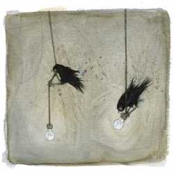 Loving the art work of Leontine Greenberg ~ especially her birds!