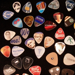 Oooh Makezine has some awesome how-to's on turn things like credit cards into guitar picks!