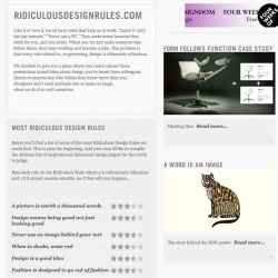 Ridiculous Design Rules ~ a site dedicated to.... exactly that!