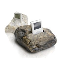 iStones by Brand Incubator for your ipod. They come in Wabi or Sabi. Either  way, they rock. Pardon the pun(s).