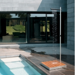 Trade Winds' Cascade outdoor shower ~ minimalist, elegant, functional?