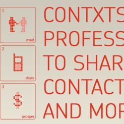 Check out contxts, a free sms business card service that lets future million-dollar investors (or lovers) snag your business card by text message. Paper's for squares!