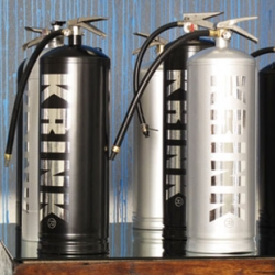 Loving the fire extinguishers by artist KR for his new Melbourne show at Don't Come Gallery.