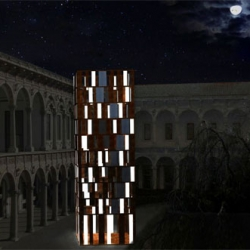 luca trazzi: t-energy ~ part of the interni design energies event. the tower includes the modular light panels manufactured by martini which light up using