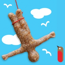 "Suck UK's Bungee Bird Feeder! ""It's more or less fact that squirrels and sparrows are huge fans of extreme sports, so what better way to treat them than to this bungee jumping feeder."" designed by Mitchell Robinson"