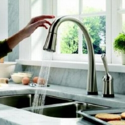 Delta's Touch2O faucet ~ not sure how i feel about the touch anywhere to control idea... but interesting concept