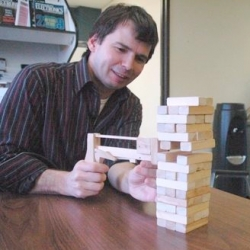Jenga Pistol. It shoots... blocks!