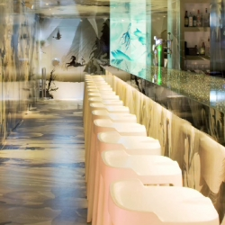 Icelandic artist Katrin Olina whittled her chops early on working at the design studios of Philippe Starck and Ross Lovegrove. Now she shows off her luscious, liquid design for Hong Kong's Cristal Bar.