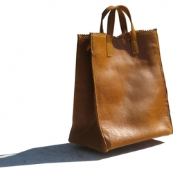 Simple and friendly leather bags are hand-crafted in LA with love. By KimKim Artifacts.