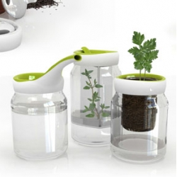 Megan Landry's Re-Cover lids are a great concept to bring new life to the many glass jars we love ~ here are the gardening options, also see the juice and drink collections!