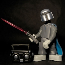 The new Sucklord Toy by Suckadelic is hilarious. Inspired by Boba Fett it comes with Boombox, cape, lasersword and turntables. Cannot stop laughing!