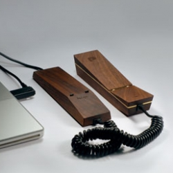 Hulger's new Pappa Phone ~ in walnut and brass!
