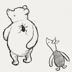 A look at the original winnie the pooh drawings ~ incredible to see how much the characters have evolved since their origin...