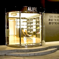New York boutique Alife, opened their first location outside of North America and it happens to be Tokyo. Once again a stunning retail spot and interior design.
