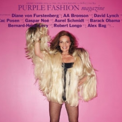 Diane von Furstenberg gets shot by Terry Richardson for the latest issue of French Purple Magazine.