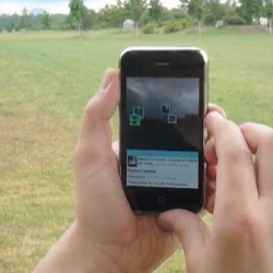 This is a video of the first beta version of TwittARound - an augmented reality Twitter viewer on the iPhone.
