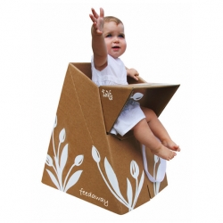 Paper Tiger Products Toddlers Feeding Tools- Paper Tiger Products by Australian designer Anthony Dan are flat packs, temporary structures made from recycled and recyclable material. Easily transport because it snap together easily and quickly.