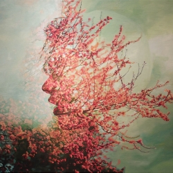 Pakayla Biehn's gorgeous double exposure paintings