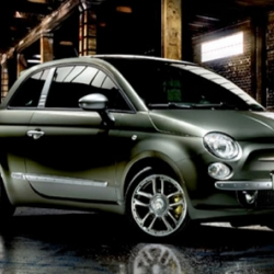 Fiat gets together with denim brand Diesel to create a Fiat 500 limited edition. I love how they used the old Diesel logo on the car again.