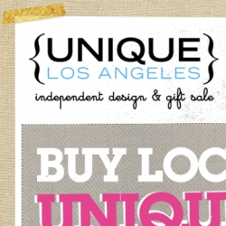 UNIQUE Los Angeles ~ over 200 indie designer vendors under one roof! Dec 13th and 14th ~ check out some we liked from the list ~ and we're also giving away 10 pairs of tickets!