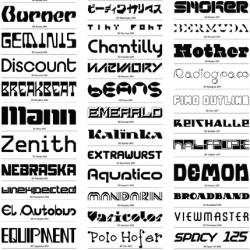 Brilliant fonts updated annually created by the Swiss graphic design wizards, Buro Destruct.