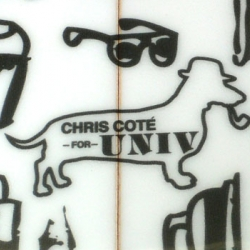One of surfings most illustrious characters and editor in chief of TransWorld Surf Magazine, Chirs Cote, now created a limited edition board for Univ. Loving the artwork on it!