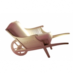 """Fauteuil """" CECI N'EST PAS UNE BROUETTE """" Indoor, by Philippe Starck"""