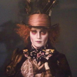 Tim Burton's remake of Alice in Wonderland. Johnny Depp as the Mad Hatter! 2010