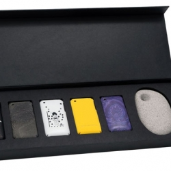 Beautiful set of iPhone cases by Rick Owens, Dries van Noten, Bless, Etro, Marni and Anna Sui for fashion boutique Joyce.