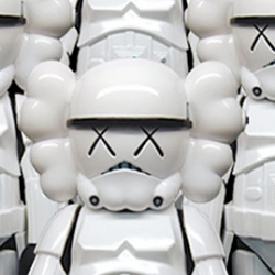 NYC artist Kaws, after releasing his version of Darth Vader last year, has been working  on the Stormtrooper. Why does the coolest stuff  only release in Japan?!