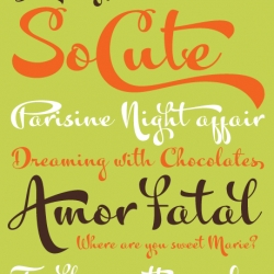 Another new super fun font from my favorite fontographer, Alejandro Paul ~ Kewl Font!