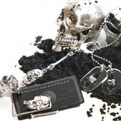 "Philipp Plein has come out with some amazing ""death head"" (that's what he calls skulls) jewelry and accessories in sterling silver and 18k gold."