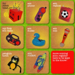 Ecotronic Toys ~ yes! eco friendly, no batteries, and people powered!