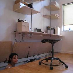 Jeremy Levine's Design for under-floor concealed office storage