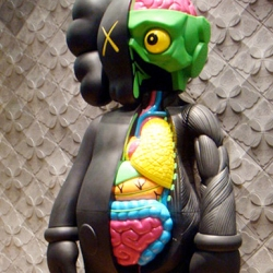 The amazing 4 Feet Dissected Black Companion by artist Kaws will release this month. The details on this toy are mind blowing.