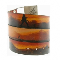 A wild west showdown around your waist? Jon Wye - Showdown Belt (buckle not included ~ so you can really make it  uniquely *yours*)